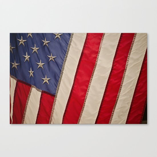 The flag of the United States of America Canvas Print