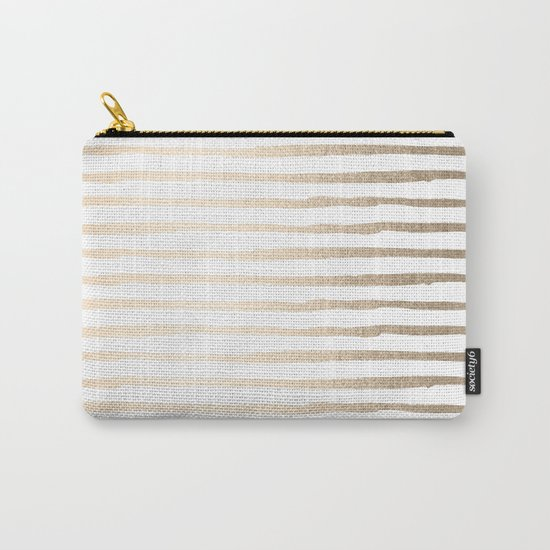 White Gold Sands Thin Stripes Carry-All Pouch