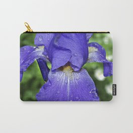 Cool blue-violet Iris 'Sea Master' Carry-All Pouch