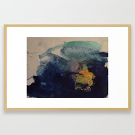 Blue gold Framed Art Print