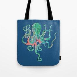 Octopus Fluo Tote Bag