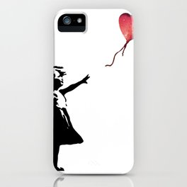 Banksy cosmic balloon iPhone Case