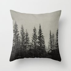 the edge of the forest Throw Pillow