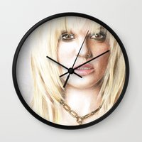 britney Wall Clocks featuring Britney by LeonieMV