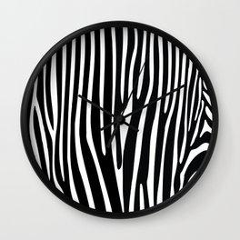 Zebra geometric pattern Wall Clock