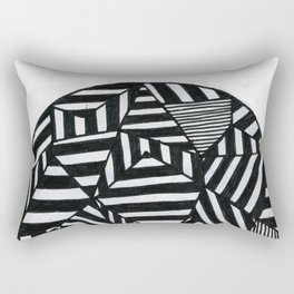 Stripes filled circle Rectangular Pillow