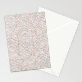 Marble With Zig Zag Stationery Cards