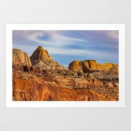 Summit of the rocks Art Print