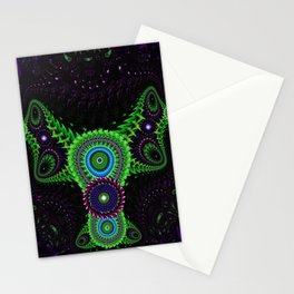 Fluorescent Bat Stationery Cards