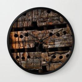 Charred Wood Boxes Wall Clock