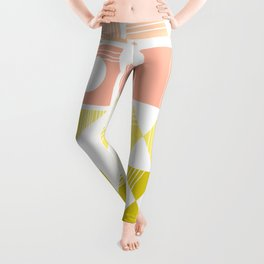 Organic Abstract Shapes in Soft Pastel Colors Leggings