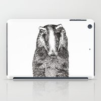badger iPad Cases featuring Badger by Meredith Mackworth-Praed