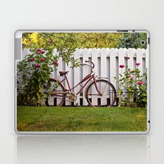 Bike with Fence & Flowers Laptop & iPad Skin