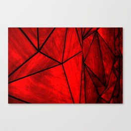 Modern Abstract Triangle Pattern Canvas Print