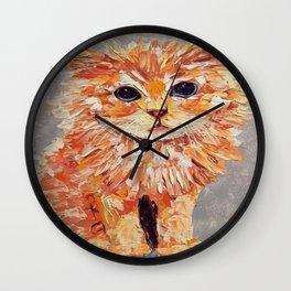 Orange kitten Wall Clock