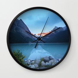 Mountains lake Wall Clock