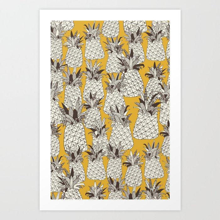 pineapple sunshine yellow Art Print