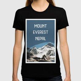 Mount Everest, Nepal, Souvenir design T-shirt