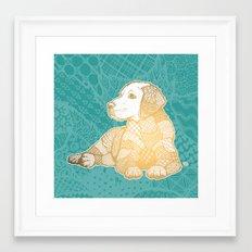 Zentangle Yellow Lab Framed Art Print