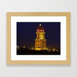 Invercagill water tower, New Zealand Framed Art Print
