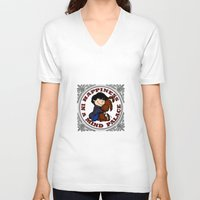 johnlock V-neck T-shirts featuring Happiness In A Mind Palace by Marlowinc