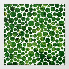 Marble Effect Dots 3 Canvas Print