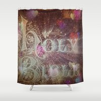 bible Shower Curtains featuring Holy Bible With Hearts & Bokeh by Key2MyArt