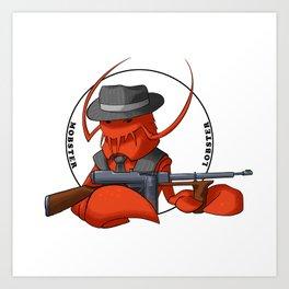 Mobster Lobster Art Print