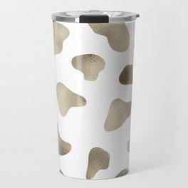 Golden cow hide print Travel Mug