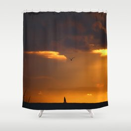 Saiboat at Sunset Shower Curtain