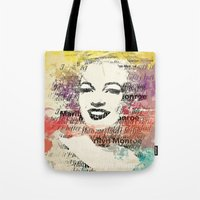monroe Tote Bags featuring MONROE by Smart Friend