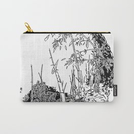 Sitting by the Bamboos Carry-All Pouch