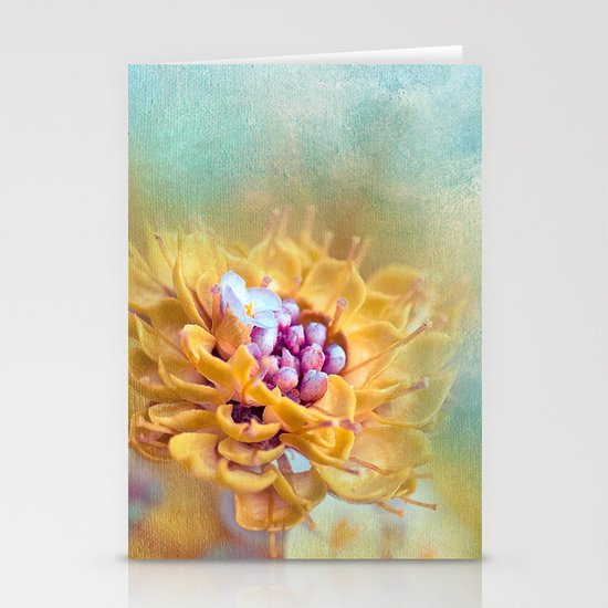VARIE SQUARE - Floral and painterly texture work Stationery Cards