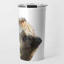 Hedgehog Double Exposure Travel Mug