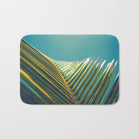Palm Leaves in the Sun Bath Mat