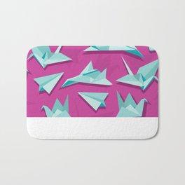 planes and cranes Bath Mat