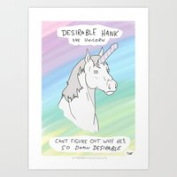 penis Art Prints featuring Unicorn, Penis horn by Bluh