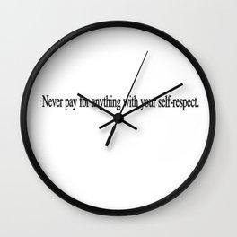R.E.S.P.E.C.T Wall Clock