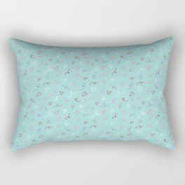 Twirls and Triangles Rectangular Pillow