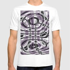Abstract 360 MEDIUM Mens Fitted Tee White