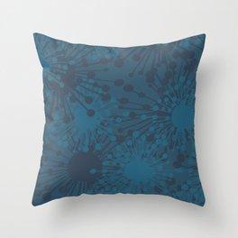 color sampled star burst Throw Pillow