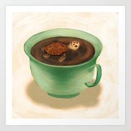Tea Turtle Art Print