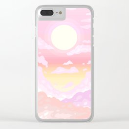Pink light Clear iPhone Case