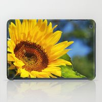 sunflower iPad Cases featuring Sunflower by Christina Rollo
