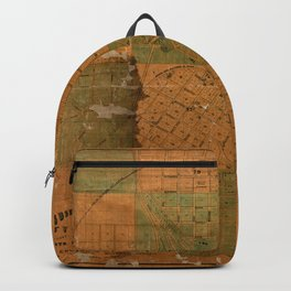 Map Of Atlanta 1850 Backpack