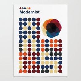 Modernist Circles Poster
