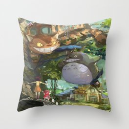 studio ghibli art Throw Pillow