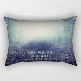She Walks In Beauty Rectangular Pillow