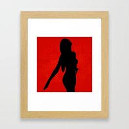 Freedom - Black on Red Framed Art Print