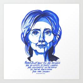 Hillary Rodham Clinton Art Print